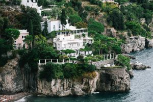 Aerial view of Villa Tre Ville at this Positano wedding weekend in Italy   Photo by Gianni di Natale