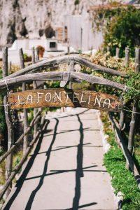 La Fontelina entrance on Capri at this Positano wedding weekend in Villa Tre Ville | Photo by Gianni di Natale