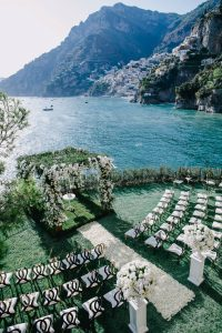 Outdoor ceremony at this Positano wedding weekend in Villa Tre Ville   Photo by Gianni di Natale