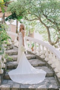 Bride at this at this Positano wedding weekend in Villa Tre Ville | Photo by Gianni di Natale