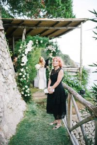 Marcy at this Positano wedding weekend in Villa Tre Ville | Photo by Gianni di Natale