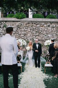 Bride entrance at this Positano wedding weekend in Villa Tre Ville | Photo by Gianni di Natale
