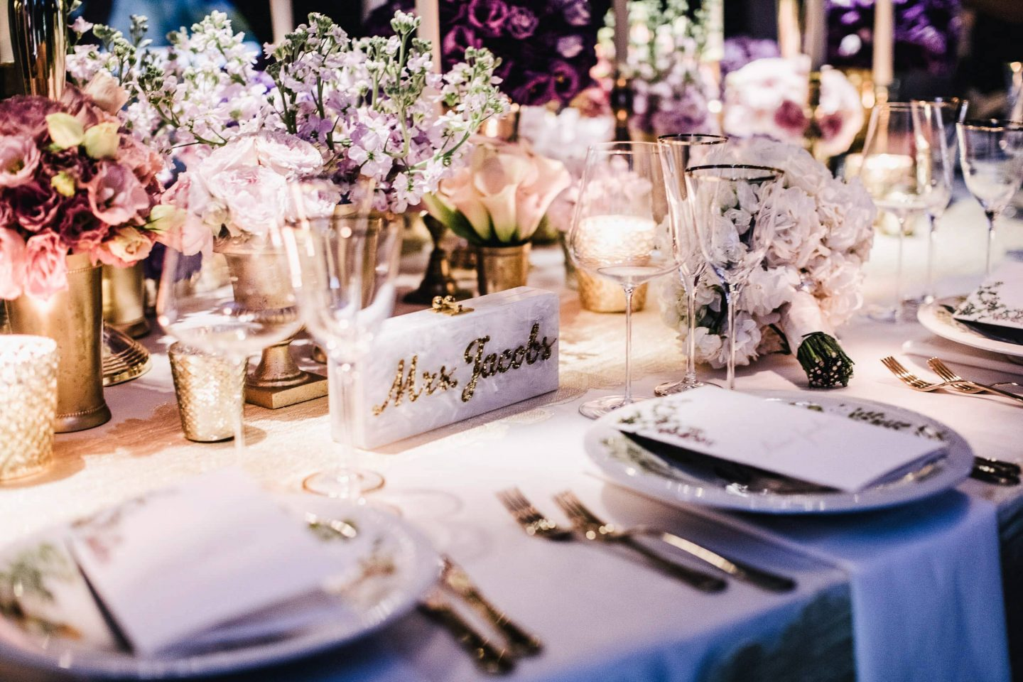 Table decor for reception at this Positano wedding weekend in Villa Tre Ville | Photo by Gianni di Natale