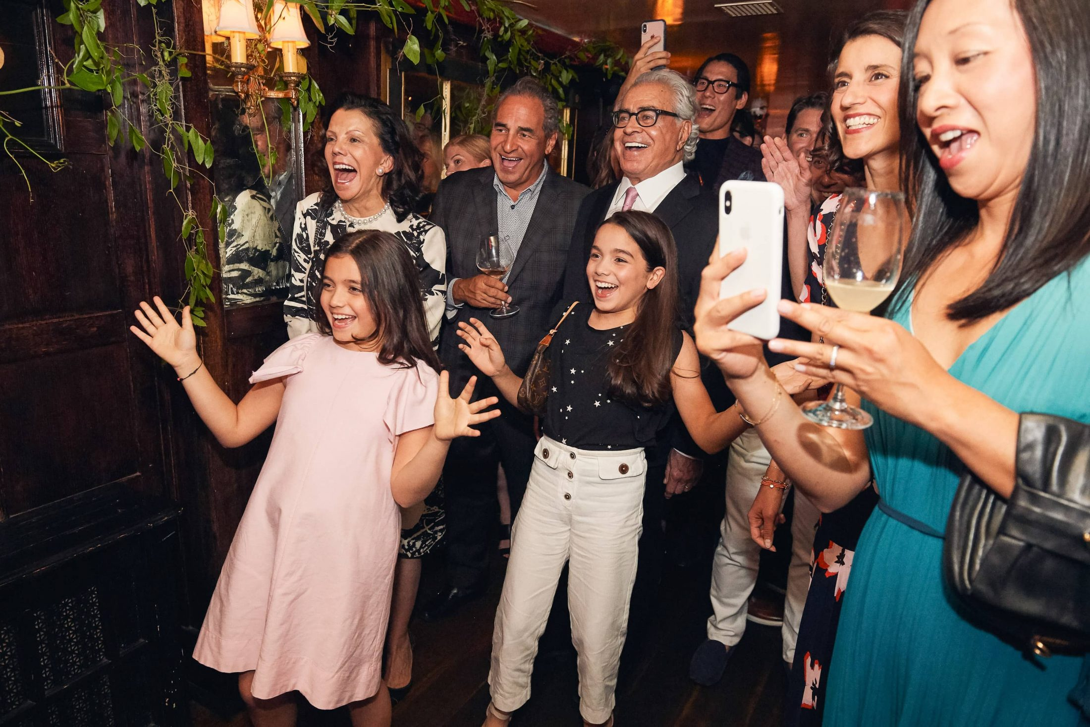 Surprise! Guests at this 40th surprise birthday party at Beatrice Inn in West Village | Photo by Darren Ornitz