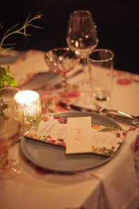 Table seating at this 40th surprise birthday party at Beatrice Inn in West Village | Photo by Darren Ornitz