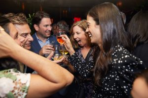 Guests and birthday girl at this 40th surprise birthday party at Beatrice Inn in West Village | Photo by Darren Ornitz