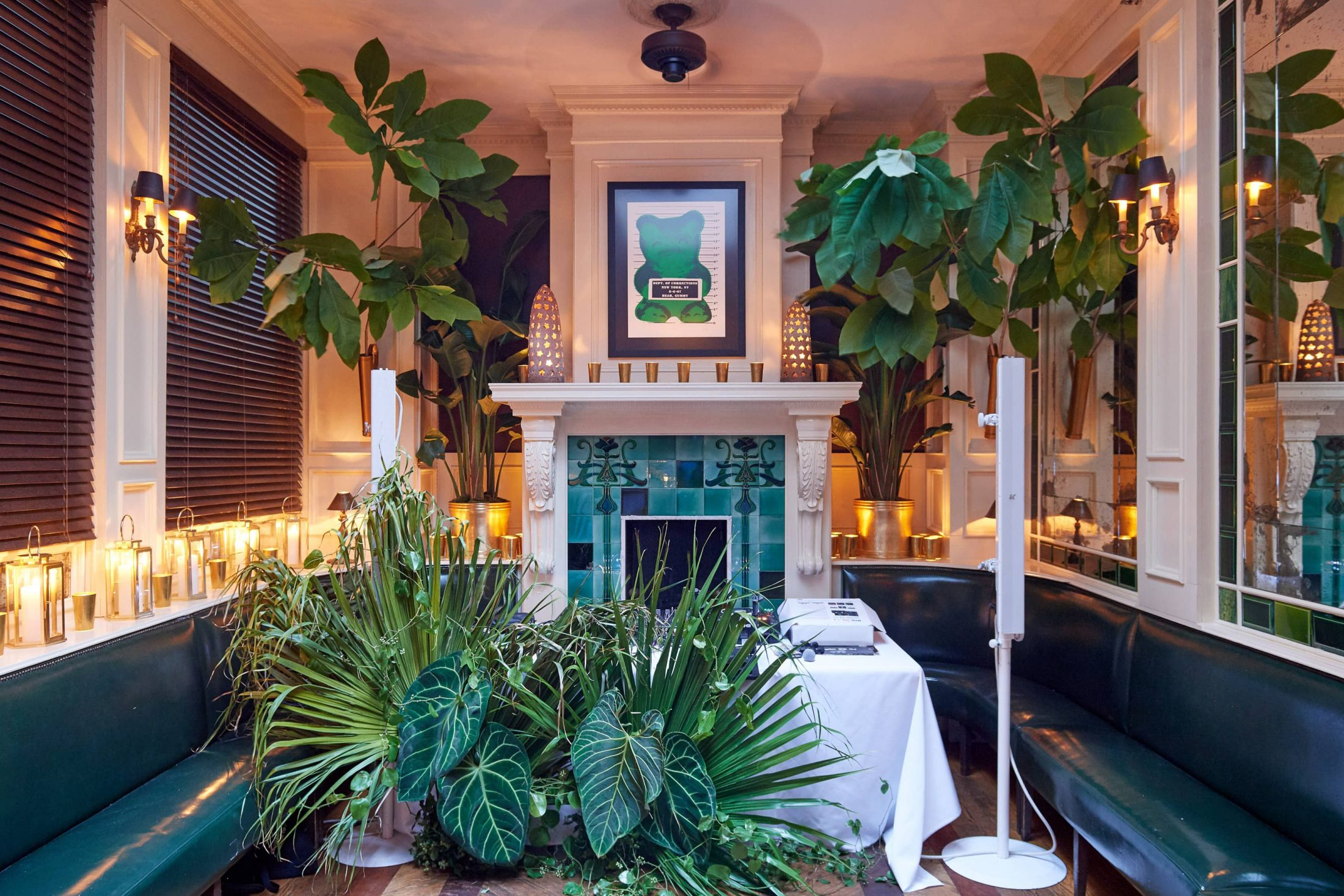 Decor at this 40th surprise birthday party at Beatrice Inn in West Village | Photo by Darren Ornitz