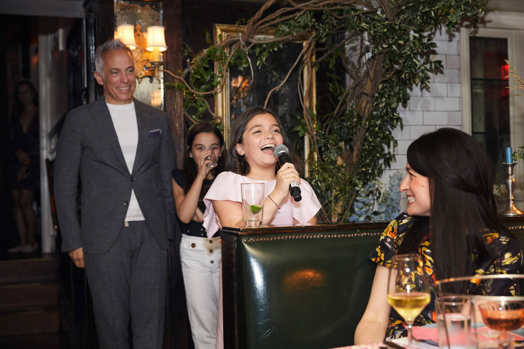 Younger guests at this 40th surprise birthday party at Beatrice Inn in West Village | Photo by Darren Ornitz