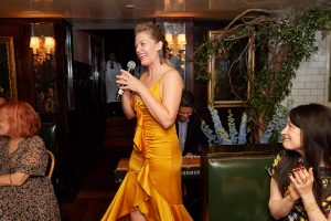 Speech at this 40th surprise birthday party at Beatrice Inn in West Village   Photo by Darren Ornitz