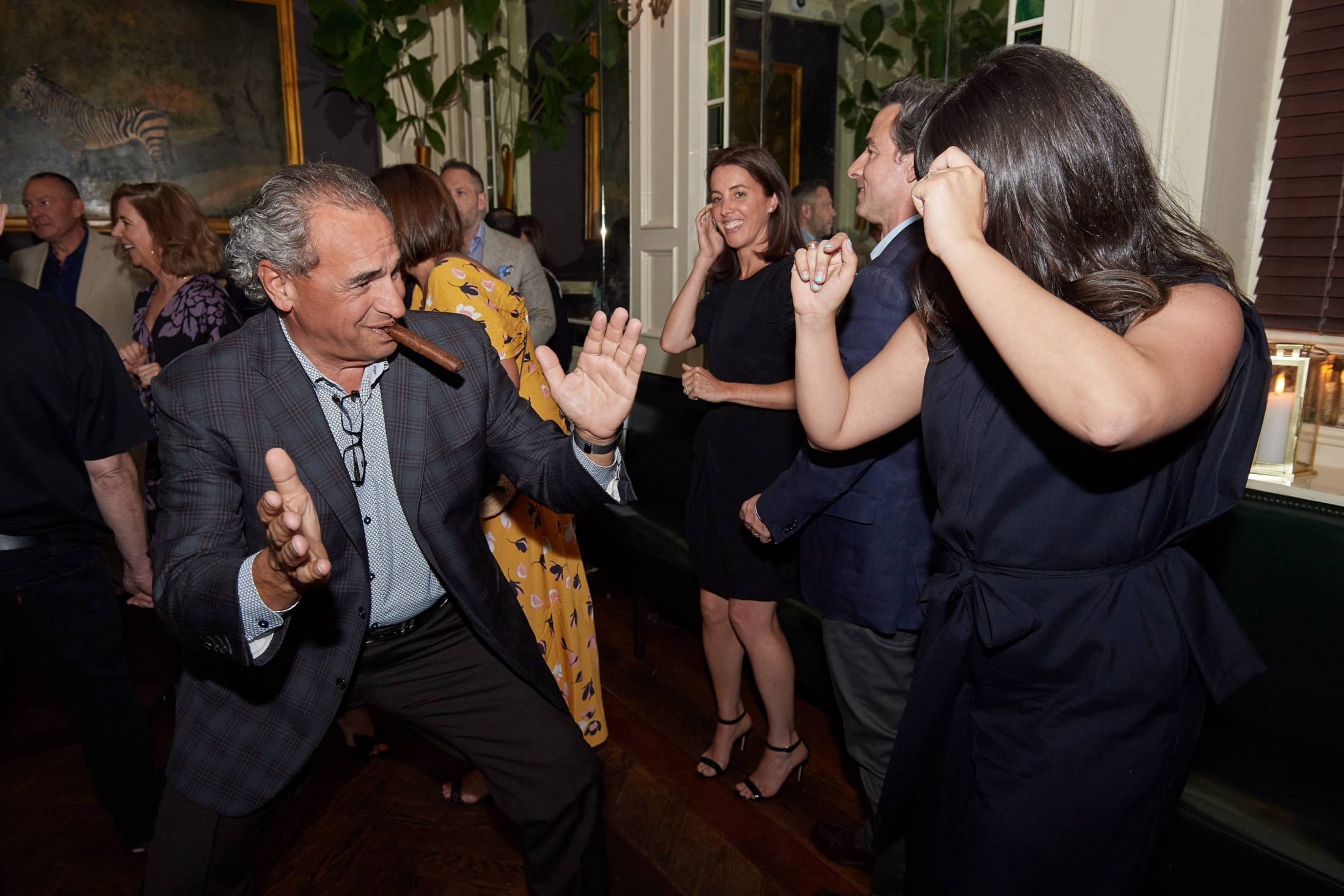 Dancing at this 40th surprise birthday party at Beatrice Inn in West Village | Photo by Darren Ornitz