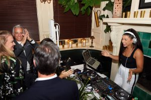 DJ Hannah Bronfman at this 40th surprise birthday party at Beatrice Inn in West Village   Photo by Darren Ornitz