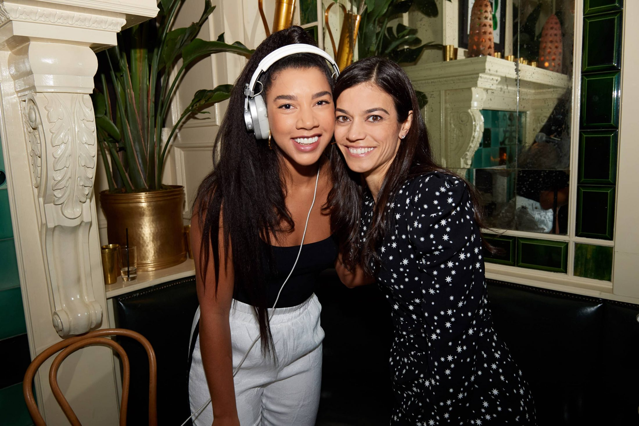 DJ Hannah Bronfman and Margaret at this 40th surprise birthday party at Beatrice Inn in West Village | Photo by Darren Ornitz