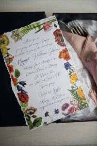 Birthday stationery at this 40th surprise birthday party at Beatrice Inn in West Village   Photo by Darren Ornitz
