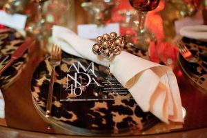 Table setting at this 40th surprise birthday at the Boom Boom Room in NYC | Photo by Luis Zepeda