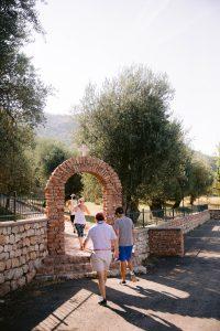 St. Sava Church hike at this Aman Sveti Stefan Montenegro destination wedding weekend | Photo by Allan Zepeda