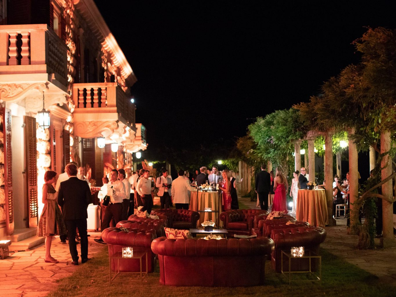 Casino Royale-themed party at this Aman Sveti Stefan Montenegro destination wedding weekend | Photo by Allan Zepeda