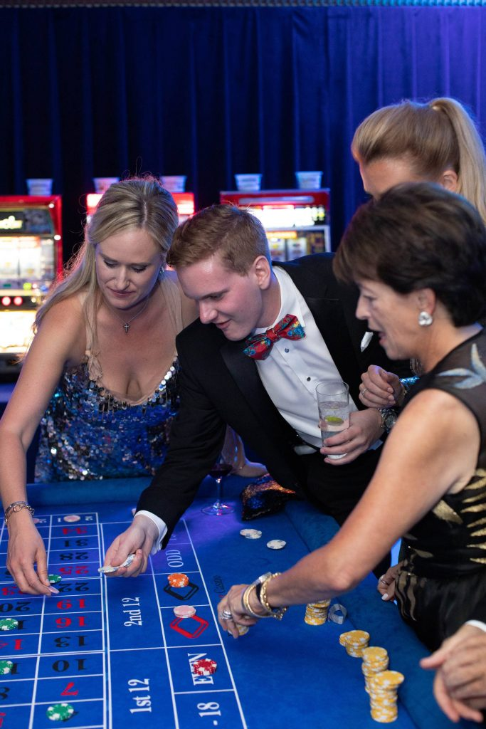 Roulette at Casino Royale-themed party at this Aman Sveti Stefan Montenegro destination wedding weekend | Photo by Allan Zepeda