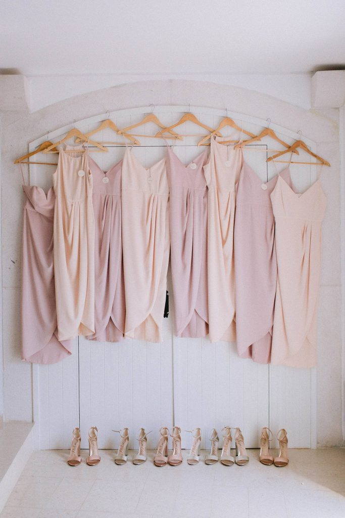Bridesmaid dresses at this Aman Sveti Stefan Montenegro destination wedding weekend | Photo by Allan Zepeda