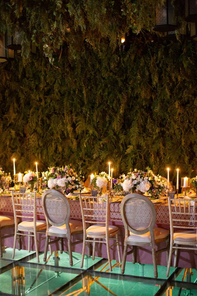 Reception decor at this Aman Sveti Stefan Montenegro destination wedding weekend | Photo by Allan Zepeda