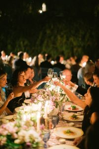 Guests during reception at this Aman Sveti Stefan Montenegro destination wedding weekend | Photo by Allan Zepeda