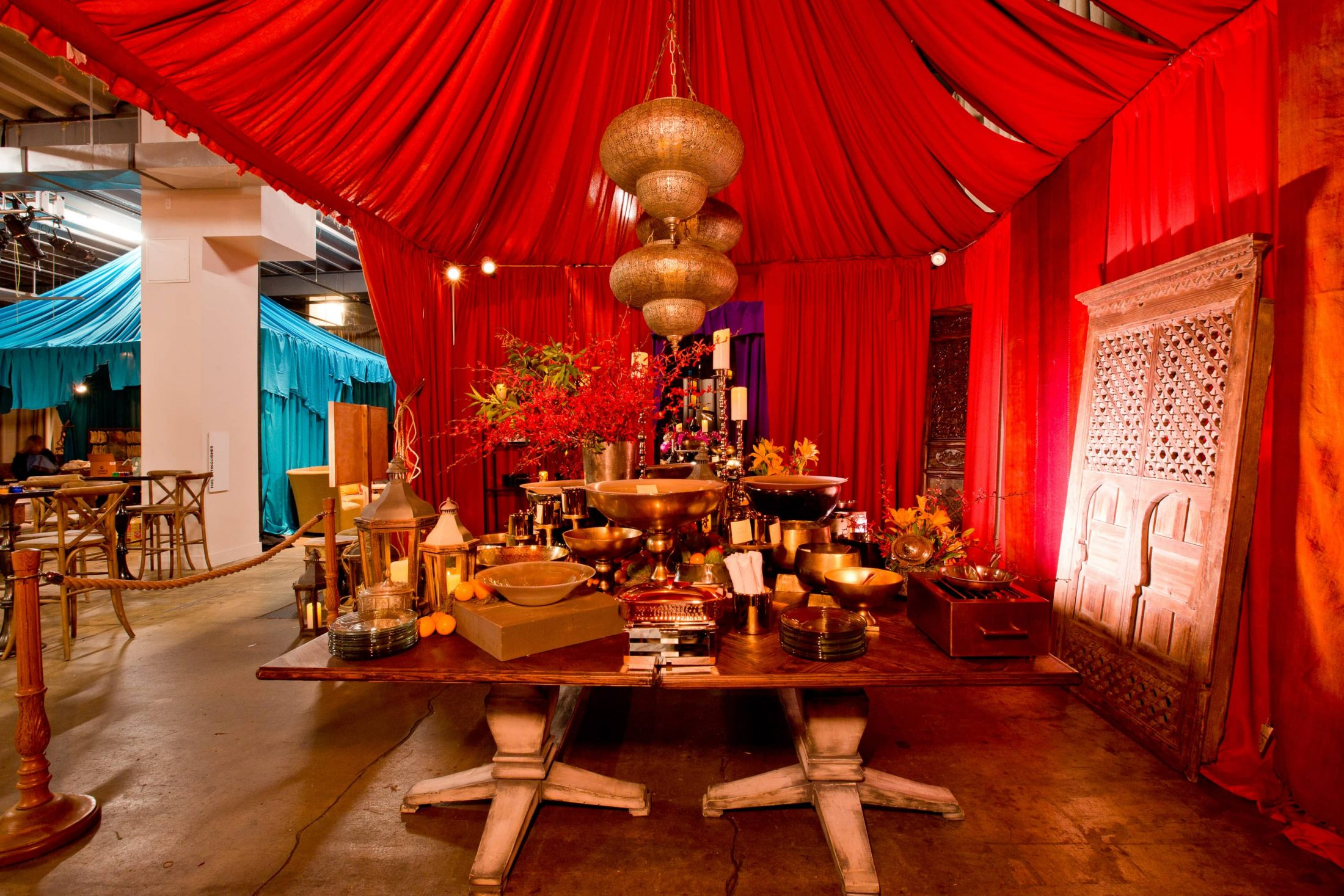 Middle Eastern souk-inspired decor at this Washington DC bat mitzvah | Photo by Luis Zepeda