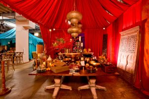 Middle Eastern souk-inspired decor at this Washington DC bat mitzvah   Photo by Luis Zepeda