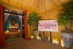 Welcome sign for this souk-inspired bat mitzvah | Photo by Luis Zepeda