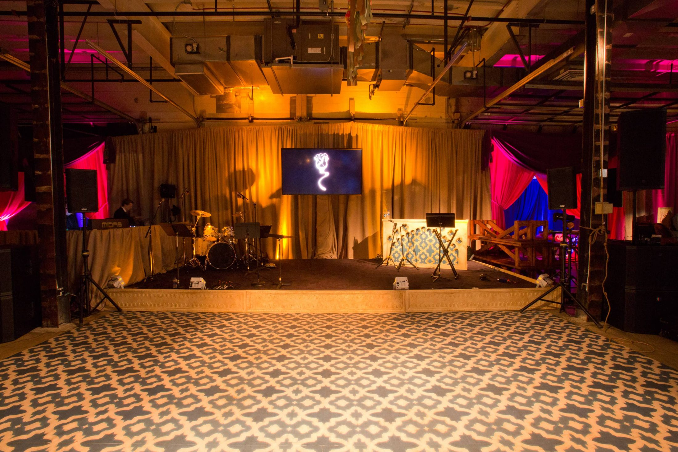 Dance floor at this food festival and souk-inspired bat mitzvah in DC | Photo by Luis Zepeda