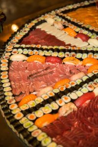 Sushi platter at this food festival and souk-inspired bat mitzvah in DC | Photo by Luis Zepeda