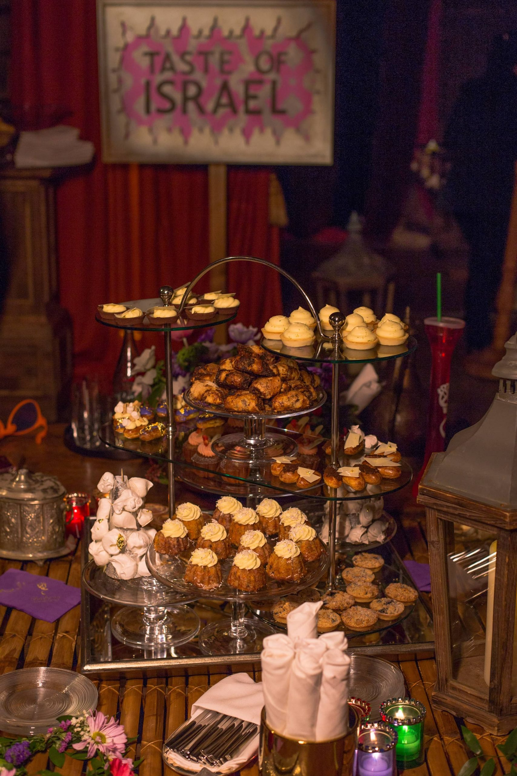 Pastries section at this food festival and souk-inspired bat mitzvah in DC | Photo by Luis Zepeda