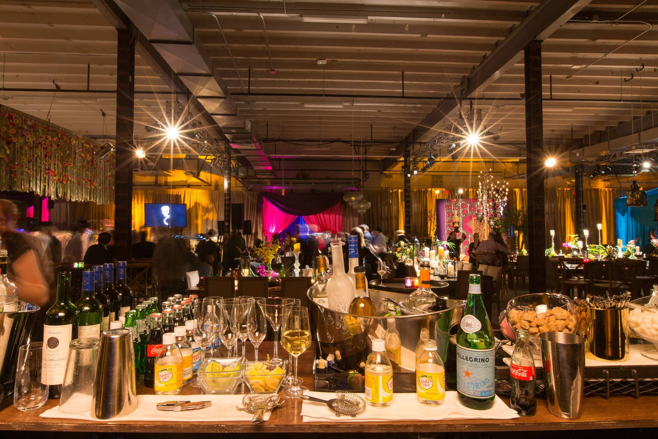 Drinks station at this food festival and souk-inspired bat mitzvah in DC | Photo by Luis Zepeda
