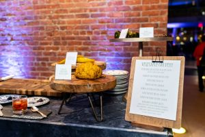 Vegetable station at this Brooklyn Museum rehearsal dinner in NYC | Photo by Gruber Photo