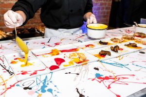 Chicken dish at this Brooklyn Museum rehearsal dinner in NYC   Photo by Gruber Photo