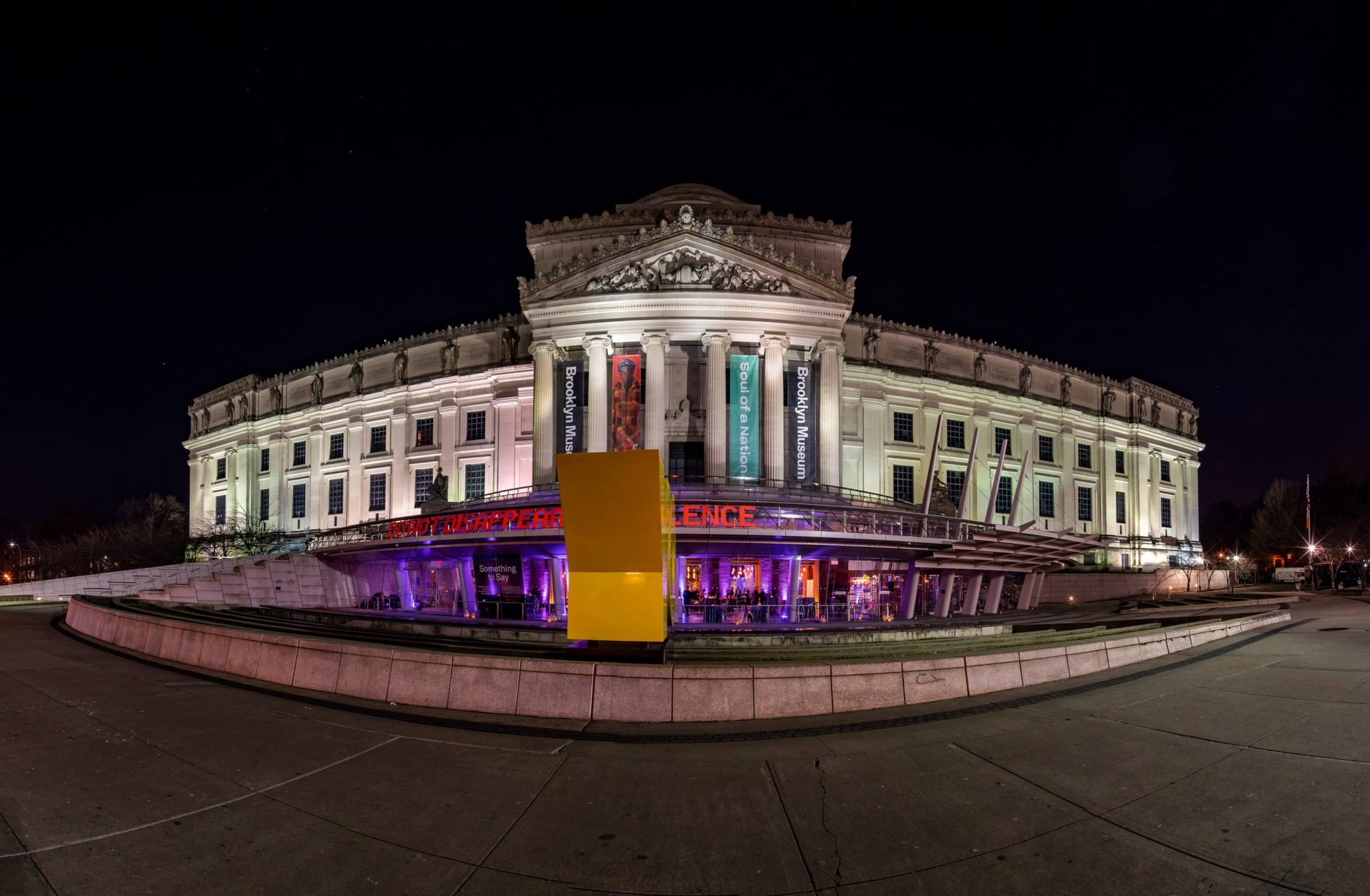 Brooklyn Museum at night in NYC | Photo by Gruber Photo