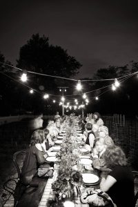 Farm-to-table pre-wedding weekend dinner at this camp-themed wedding weekend at Cedar Lakes Estate in Upstate NY, USA   Photo by Christian Oth Studios