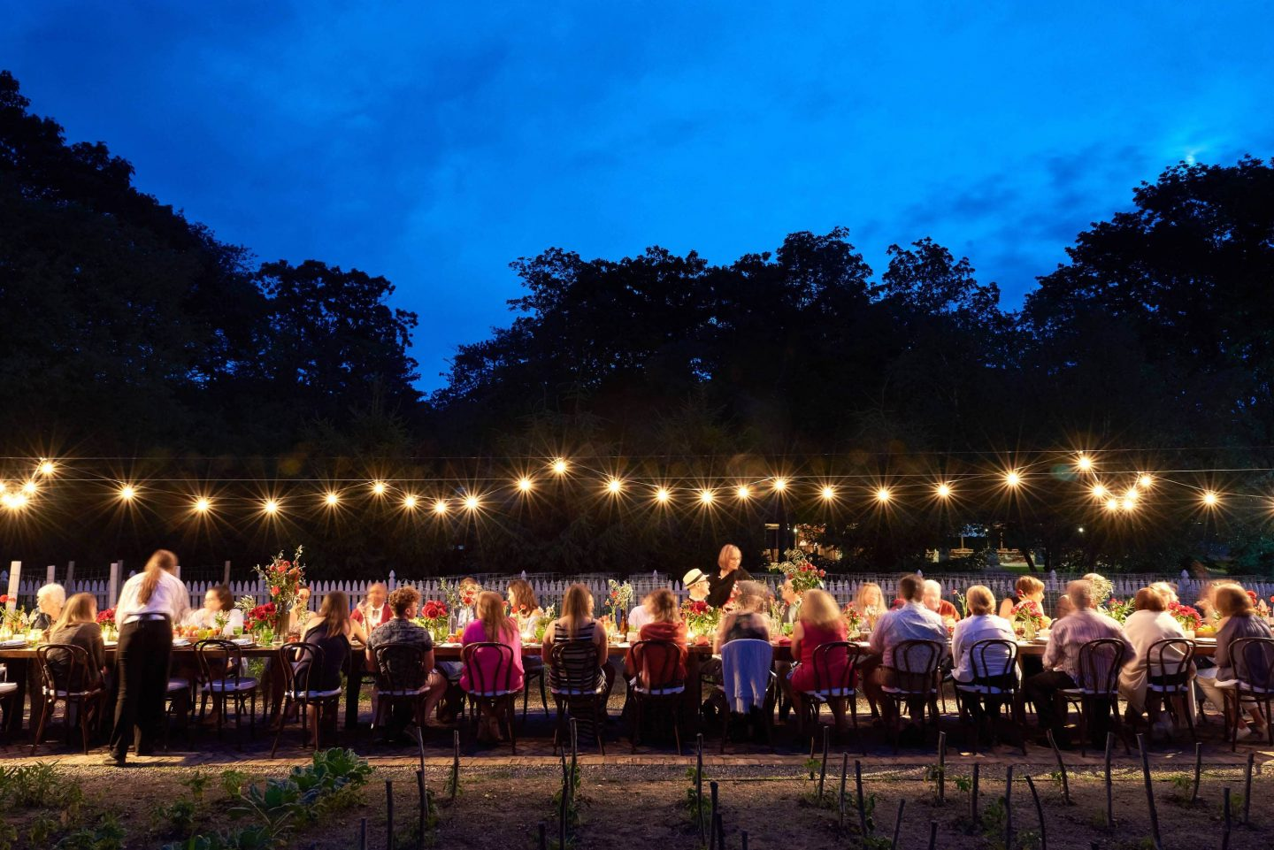 Farm-to-table pre-wedding weekend dinner at this camp-themed wedding weekend at Cedar Lakes Estate in Upstate NY, USA | Photo by Christian Oth Studios