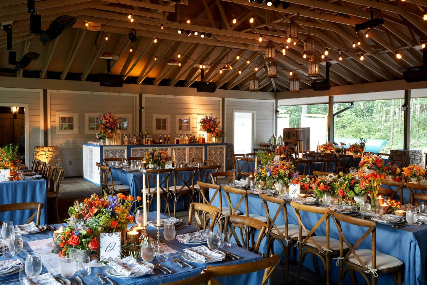 Rustic welcome party decor at this camp-themed wedding weekend at Cedar Lakes Estate in Upstate NY, USA | Photo by Christian Oth Studios