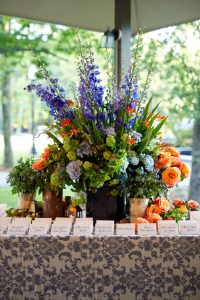 Welcome party table decor at this camp-themed wedding weekend at Cedar Lakes Estate in Upstate NY, USA   Photo by Christian Oth Studios
