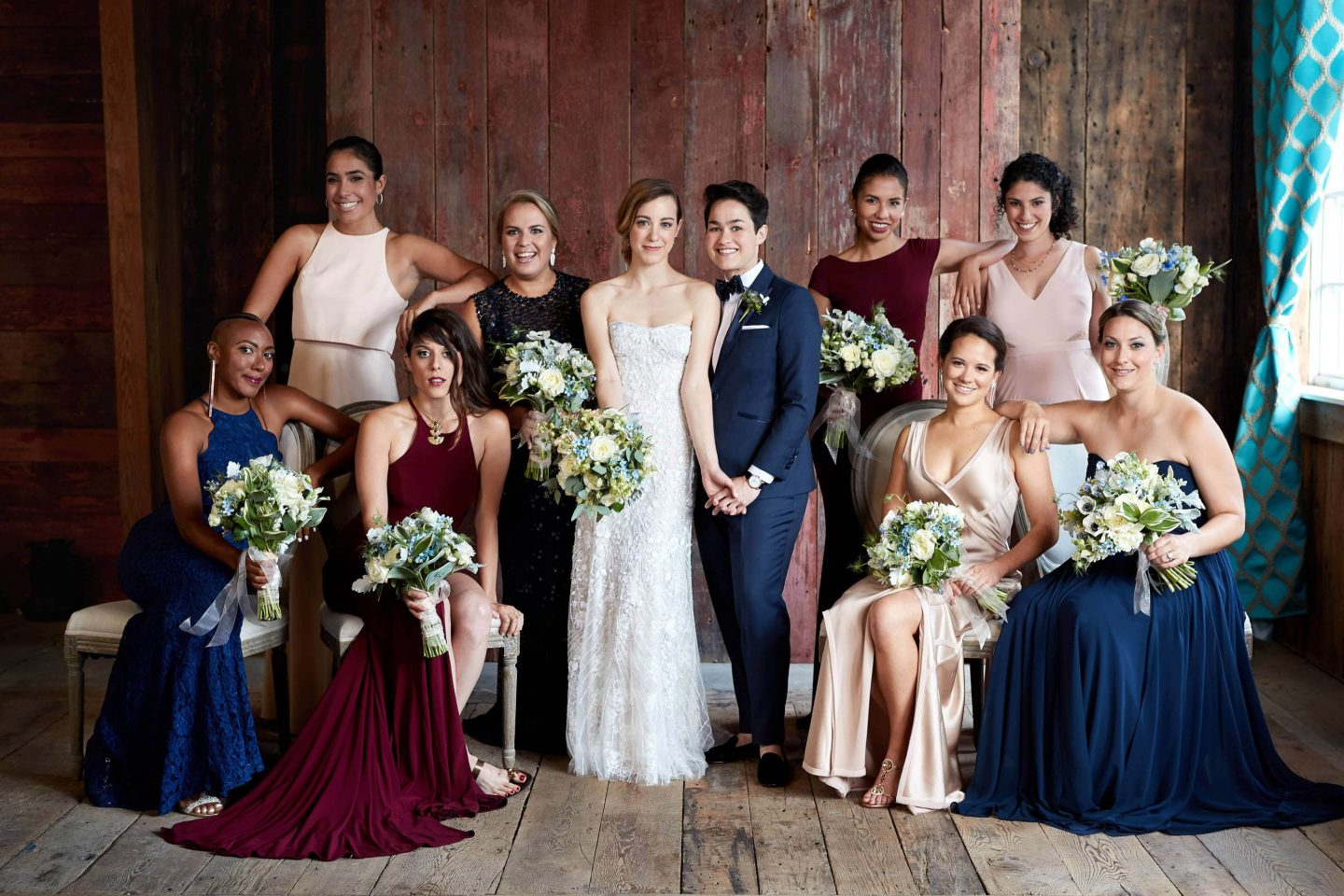 Bridal party at this camp-themed wedding weekend at Cedar Lakes Estate in Upstate NY, USA | Photo by Christian Oth Studios