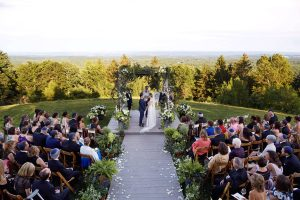 Ceremony at this camp-themed wedding weekend at Cedar Lakes Estate in Upstate NY, USA | Photo by Christian Oth Studios