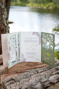 Wedding stationery at this camp-themed glamping wedding weekend at Cedar Lakes Estate in Upstate NY, USA | Photo by Christian Oth Studios