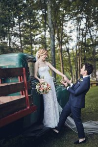 Brides photoshoot at this camp-themed wedding weekend at Cedar Lakes Estate in Upstate NY, USA | Photo by Christian Oth Studios