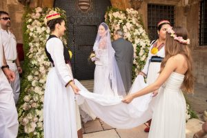 Bride entrance for ceremony at Palača Sponza at this Dubrovnik Wedding in Croatia | Photo by Robert Fairer