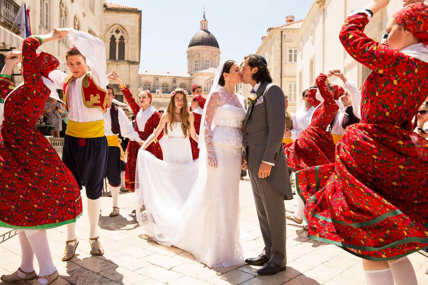 Newlyweds at this Dubrovnik Wedding in Croatia | Photo by Robert Fairer