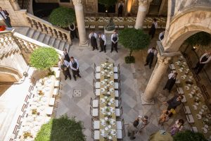Reception lunch at this Dubrovnik Wedding in Croatia | Photo by Robert Fairer