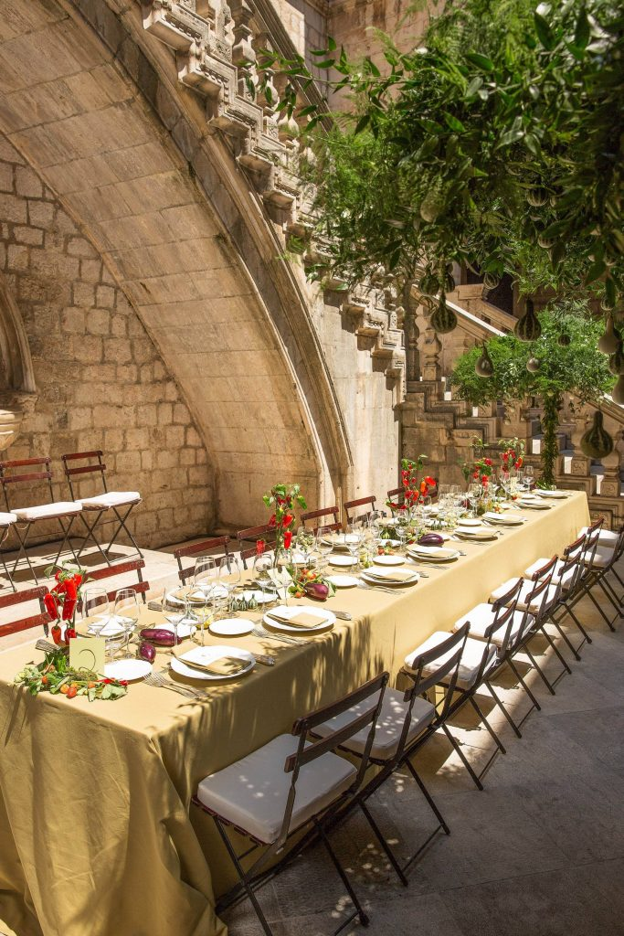 Wedding lunch at this Dubrovnik Wedding in Croatia | Photo by Robert Fairer
