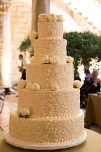 Wedding cake at this Dubrovnik Wedding in Croatia | Photo by Robert Fairer