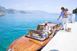 Boat ride at this Dubrovnik wedding in Croatia | Photo by Robert Fairer