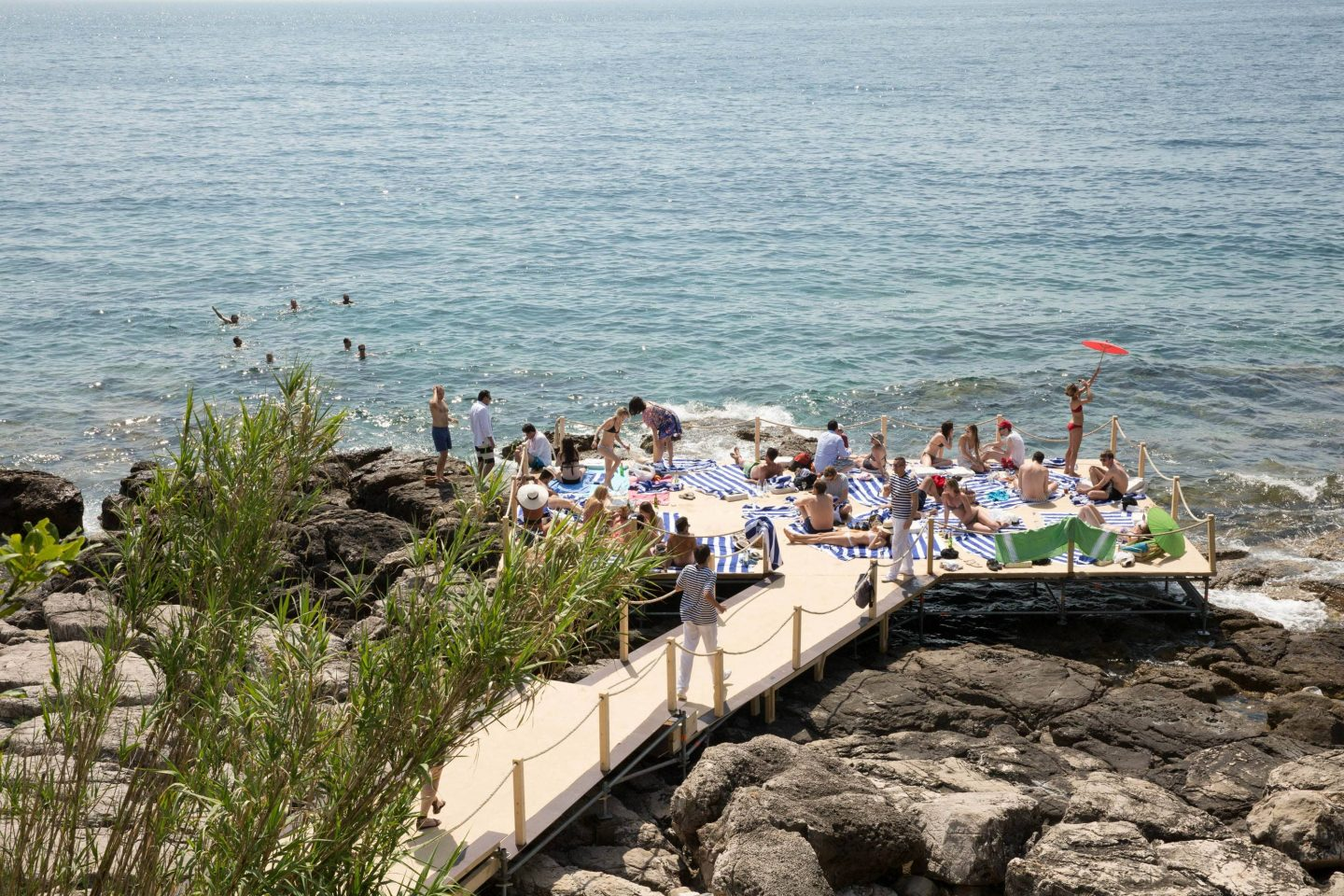 Lokrum Island picnic at this Dubrovnik wedding in Croatia | Photo by Robert Fairer