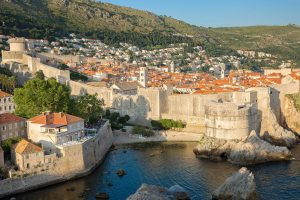 Dubrovnik aerial view at this Croatia wedding weekend | Photo by Robert Fairer